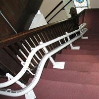 CurvedStairLiftForChurch