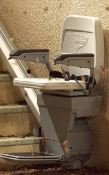 The straight stairlift Stannah 320 is designed to withstand all weather.