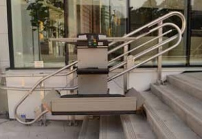 The GSL Artira is a space efficient commercial wheelchair lift.