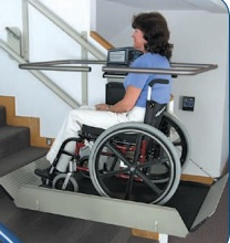 The GSL Artira an inclined wheelchair lift for churches.